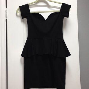 Black peplum dress Nasty Gal